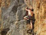 Rock Climbing in Crete, Greece.