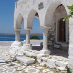 Paros archways on our kayak trip around the island